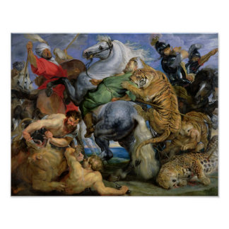 The Tiger Hunt, c.1616 Poster