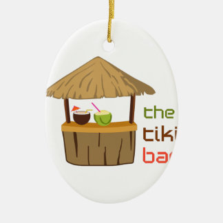 The Tiki Bar Ceramic Ornament