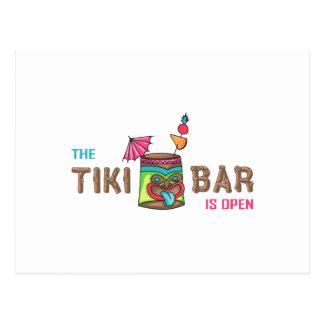 THE TIKI BAR IS OPEN POSTCARD