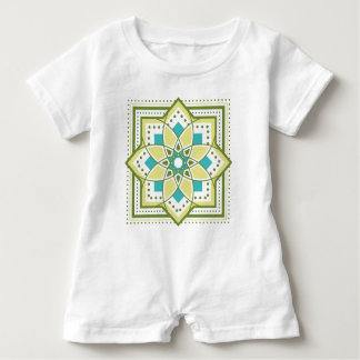 The tile handle raitogurin × emerald which yearns Baby Romper