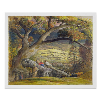 The Timber Wain, c.1833-34 (w/c & gouache on paper Poster