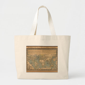 "The ""Time & Tide"" Map of The Atlantic Charter Jumbo Tote Bag"