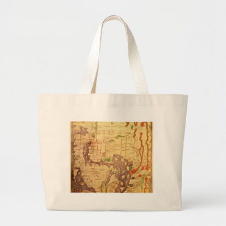 """The """"Time & Tide"""" Map of The Atlantic Charter Jumbo Tote Bag"""