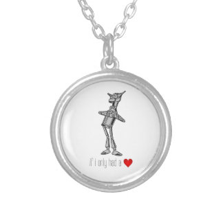"""The Tin Woodsman """"If I Only Had a Heart"""" Silver Plated Necklace"""