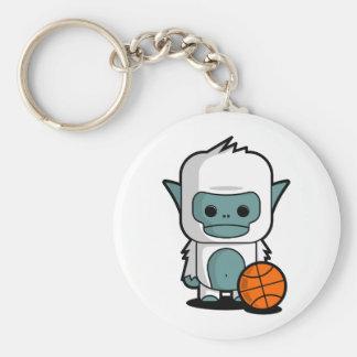 The Tiny Yeti - Playing Basket Ball Keychain