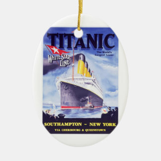 The Titanic Ceramic Oval Ornament