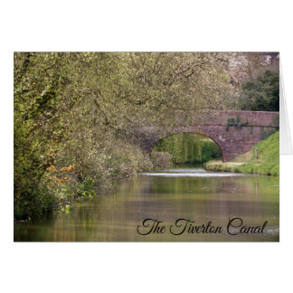 The Tiverton Canal, Devon, personalized Card