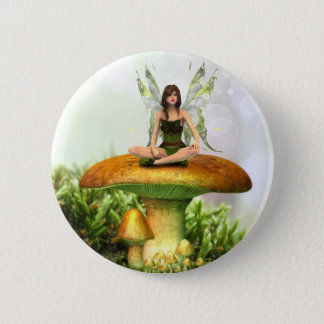 The Toadstool Fairy 2 Inch Round Button