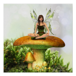 The Toadstool Fairy Poster Print
