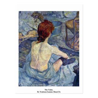 The Toilet,  By Toulouse-Lautrec Henri De Postcard