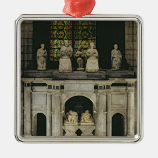 The Tomb of Francois I  and Claude of France Silver-Colored Square Ornament