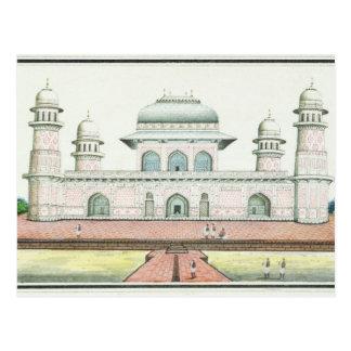 The Tomb of Itimad-Ud-Daula, near Agra, c.1830s (w Postcard