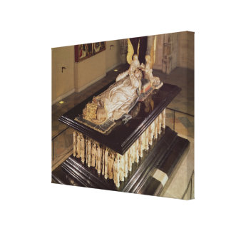 The tomb of Philip the Bold, Duke of Burgundy Canvas Print