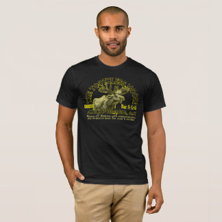 The Toothless Moose Bar and Grill Light on Dark T-Shirt