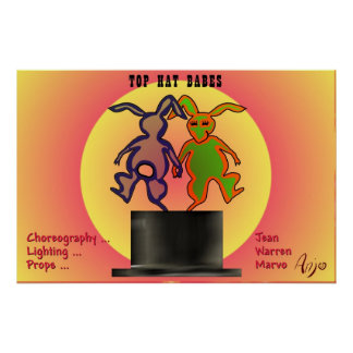 The Top Hat Babes by Anjo Lafin Poster
