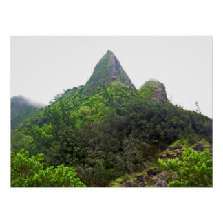 The top of Pali Lookout poster on Oahu