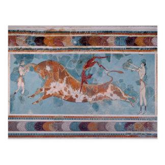 The Toreador Fresco, Knossos Palace, Crete Postcard