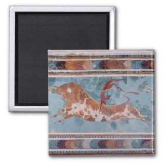 The Toreador Fresco, Knossos Palace, Crete Square Magnet