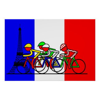 The Tour Arrives in Paris Poster