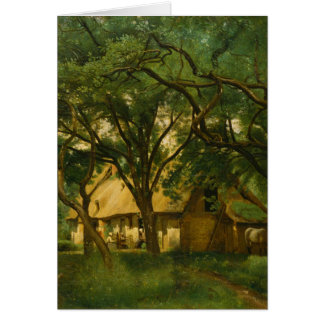 The Toutain Farm at Honfleur - Camille Corot Card