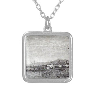 The Tow of Malghera by Canaletto Square Pendant Necklace