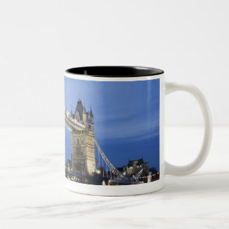 The Tower Bridge at Dusk Two-Tone Coffee Mug