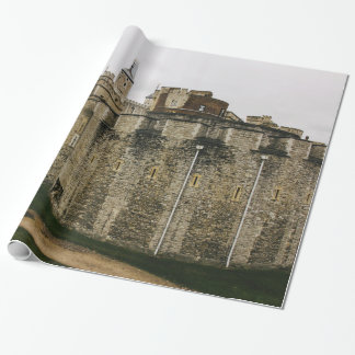 The Tower, London, Historical Travel Photograph Wrapping Paper