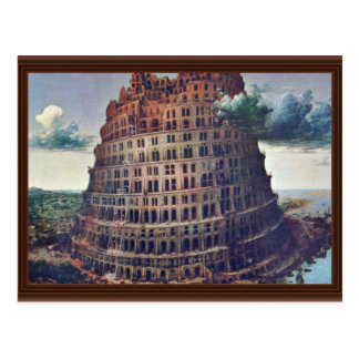 The Tower Of Babel. By Pieter Bruegel Postcard