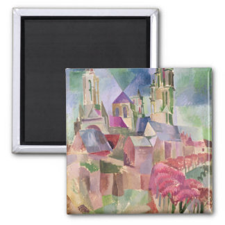 The Towers of Laon, 1911 Square Magnet
