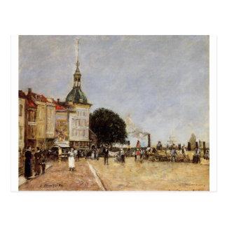 The Town of Dordrecht by Eugene Boudin Postcard