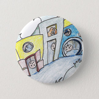 The town of Paloodle Doodle - button-sized! 2 Inch Round Button