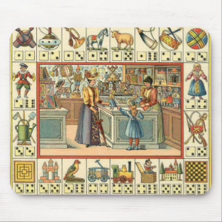 The Toy Store Antique French Toys Mouse Pad