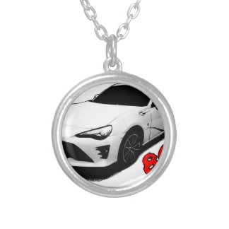 The Toyota 86 goods Silver Plated Necklace