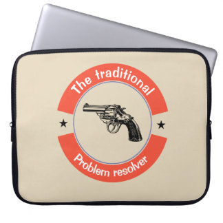 The traditional problem resolver laptop sleeve