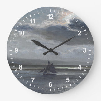 The Traeth Mawr, Moonlight Large Clock