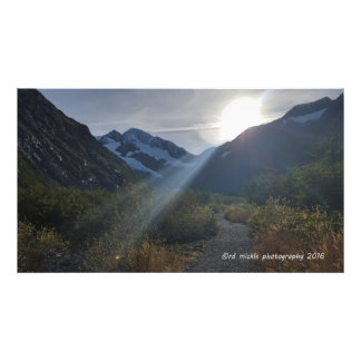 The trail to Byron Glacier Photo Print