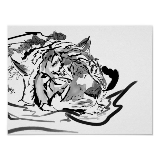 The Tranquil Tiger Print