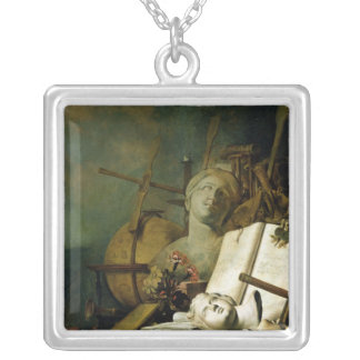 The Transience of All Earthly Things , c.1660 Silver Plated Necklace