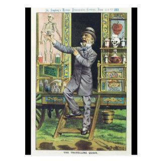 """The Traveling Quack"" Snake Oil Salesman Postcard"