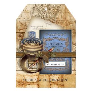 "The Traveller 5"" X 7"" Invitation Card"
