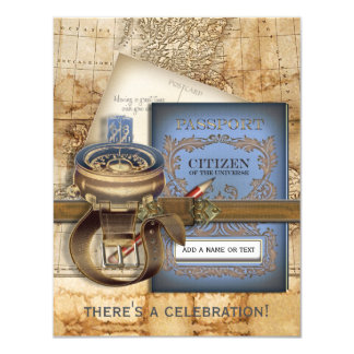 The Traveller Small Personalized Party Invitations
