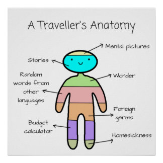 """The Traveller's Anatomy"" - Poster"