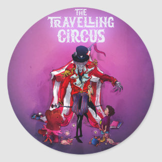 The Travelling Circus Round Sticker