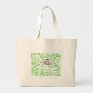 The Travelling Tortoise Large Tote Bag