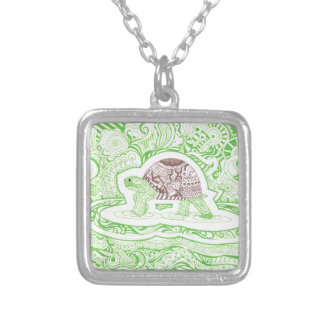The Travelling Tortoise Silver Plated Necklace