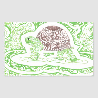 The Travelling Tortoise Sticker