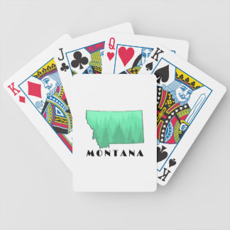 The Treasure State Bicycle Playing Cards