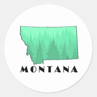 The Treasure State Classic Round Sticker