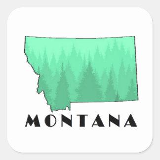 The Treasure State Square Sticker