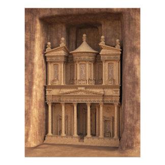 The Treasury of Petra, Jordan Letterhead Template